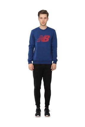 New Balance Logo Mens Crew Erkek Sweatshirt Mps016-son