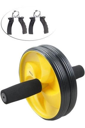 Delta Ab Slider Deluxe Egzersiz Tekerleği Tekerlek Çalışma Spor Aleti + Bilek Güçlendirici El Yayı