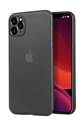 Eiroo Ghost Thin Iphone 11 Ultra Ince Şeffaf Siyah Rubber Kılıf