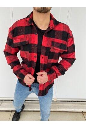 YXC Erkek Kırmızı Oversize Oduncu Gömlek