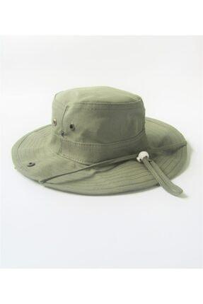 salarticaret Yazlık Katlanabilir Koyu Yeşil Safari Şapkası