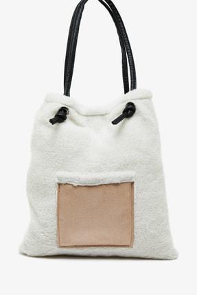 Koton Kadın Beyaz Peluş Çanta 0KAK30025OA