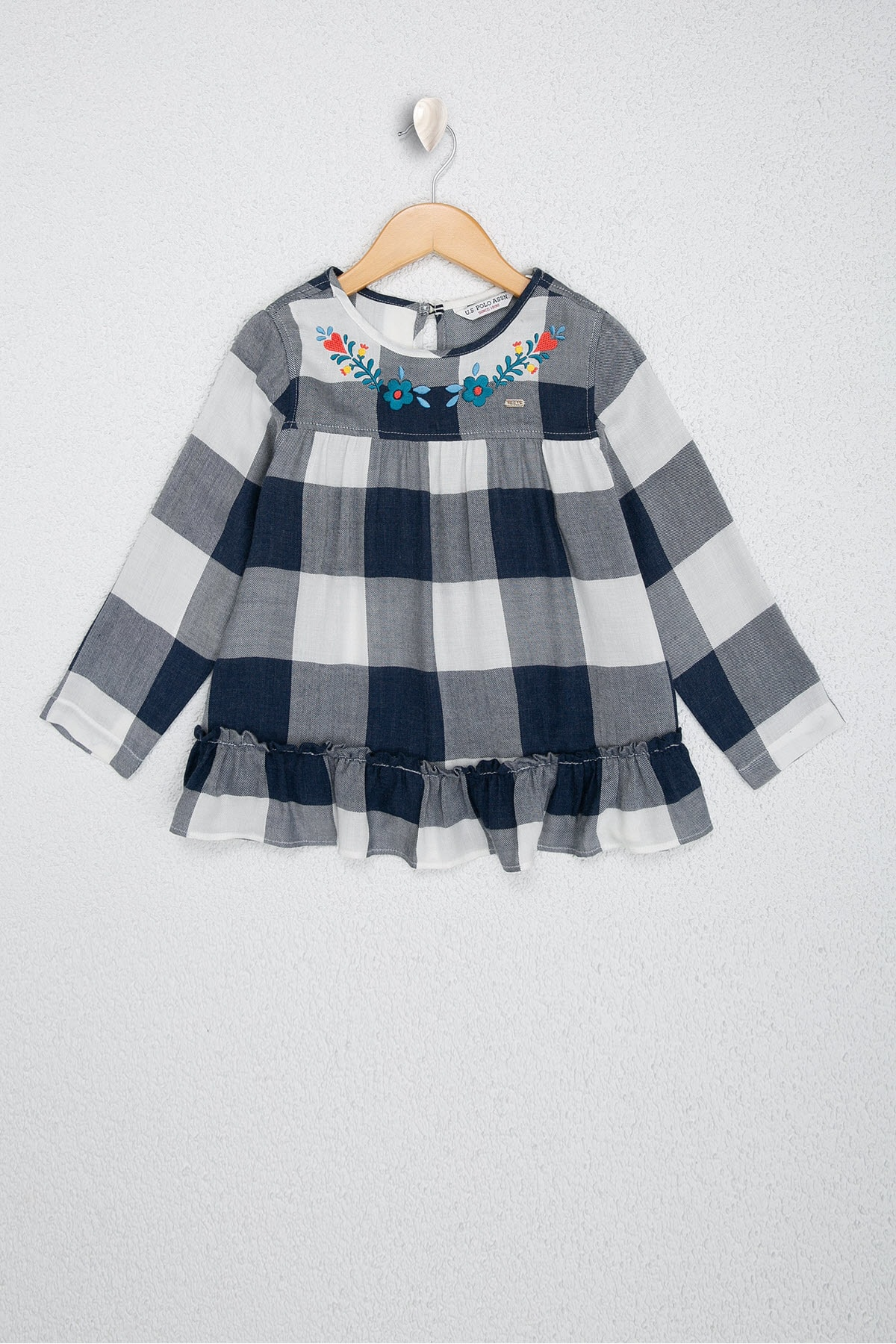 U.S. Polo Assn. Lacivert Kız Çocuk Dokuma Gömlek 1