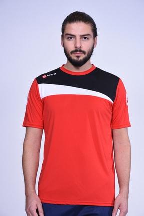 Lotto T-shirt Erkek Truro Tee Antr Pl R7115 Kırmızı-siyah