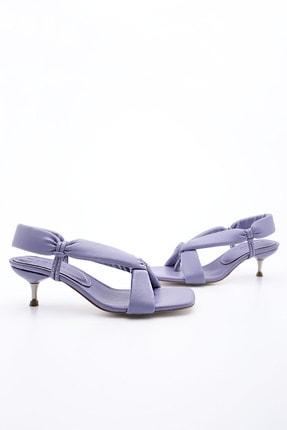 Marjin Kadın Lila Parmak Arası Topuklu Sandalet