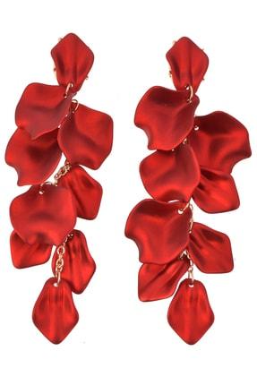 Pelin Aksesuar Kırmızı Yapraklar Küpe