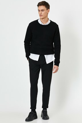 Koton Erkek Beli Baglamali Lastikli Rahat Fit Pantolon