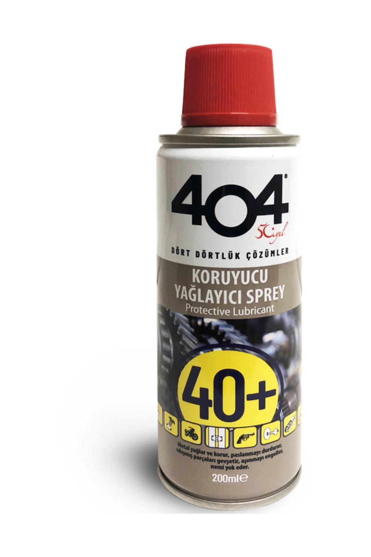 404 Kimya 404 Pas Sökücü 40+ Koruyucu Yağlayıcı Sprey 200 Ml 1