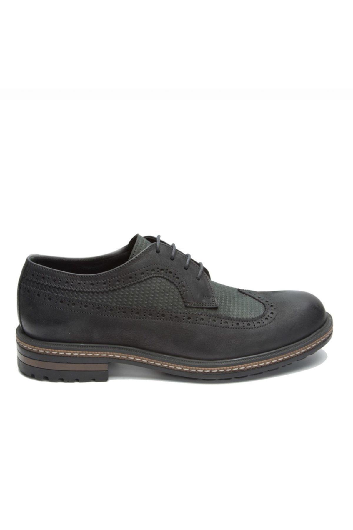 Hammer Jack Sıyah Yıkama Nubuk Erkek Klasik Ayakkabı 102 15650-M-5500 1