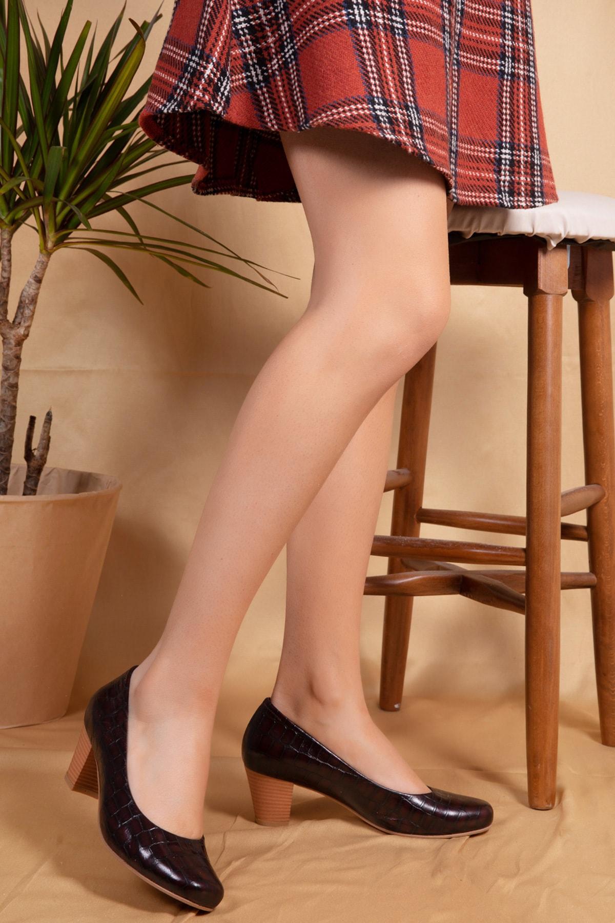 Gondol Kadın Deri Topuklu Ayakkabı 1