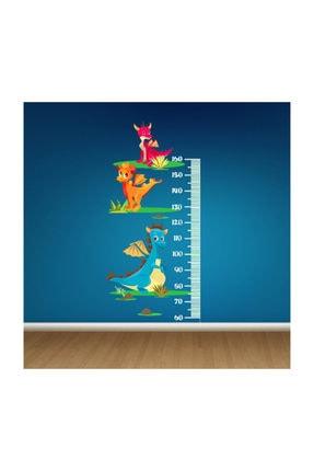 KT Decor Dinozor Dünyası Boy Ölçer Çocuk Odası Duvar Sticker