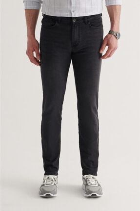 Avva Erkek Siyah Slim Fit Jean Pantolon A11y3554