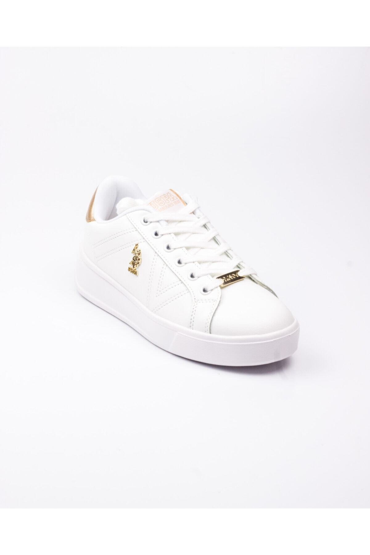 U.S. Polo Assn. U. S. Polo Exxy Beyaz Kadın Sneaker Beyaz-38 1