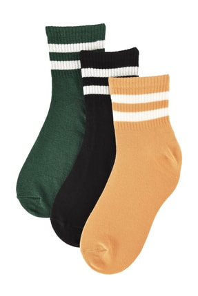 TRENDYOLMİLLA 3'lü Siyah Örme Çorap TWOAW20CO0054