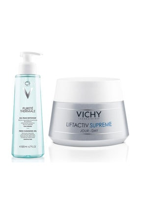 Vichy Liftactiv Sup. 50ml Normal / Karma Cilt |  Purete Thermale Clean.Gel 200ml