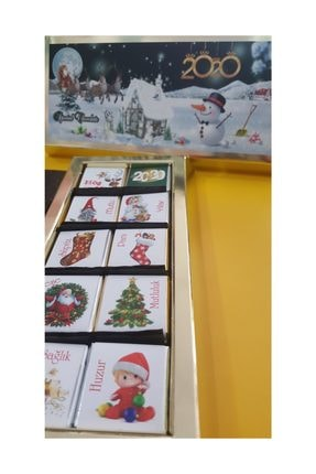 Mabel Gold Külçe Kutu Özel Tasarım Sütlü Madlen Çikolata 30 Lu