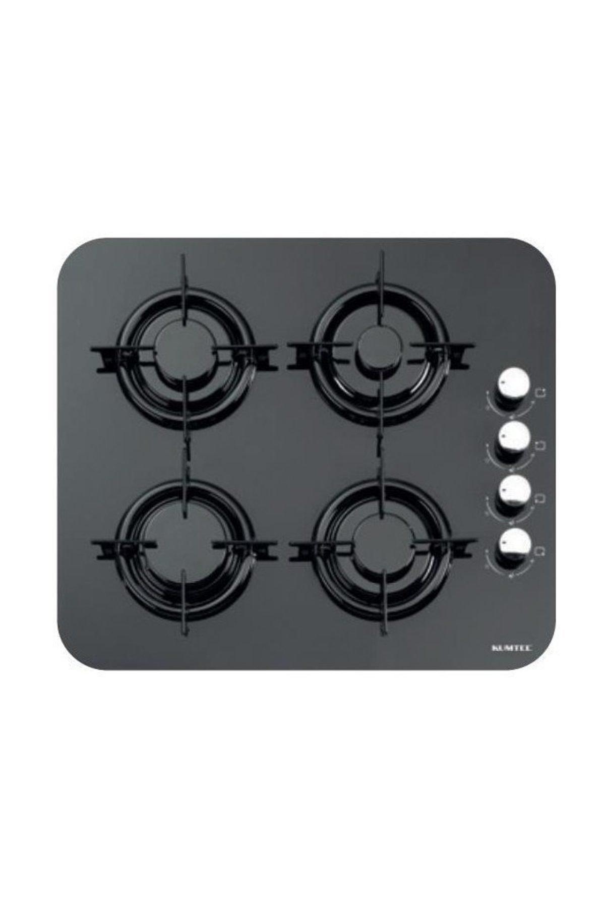 KUMTEL Siyah İkili Oval Cam Ankastre Set (DA6 830 Davlumbaz + 40 TSHDF Oval Cam Ocak) 2