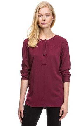 Nautica Kadın Bordo Bluz