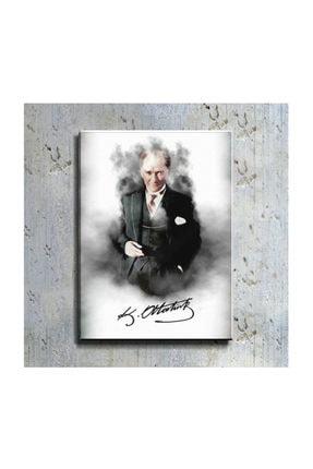 mağazacım Atatürk Takım Elbiseli Portre 50 Cm X 70 Cm Kanvas Tablo Tbl1196