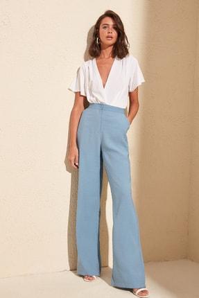 TRENDYOLMİLLA Mavi Klasik Dökümlü Pantolon TWOSS20PL0028