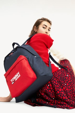 Tommy Hilfiger Kadın Mavi Omuz Çantası Tjw Cool Cıty Backpack AW0AW07632