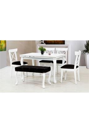 CaddeYıldız Lükens Yemek Masası Takımı - Beyaz