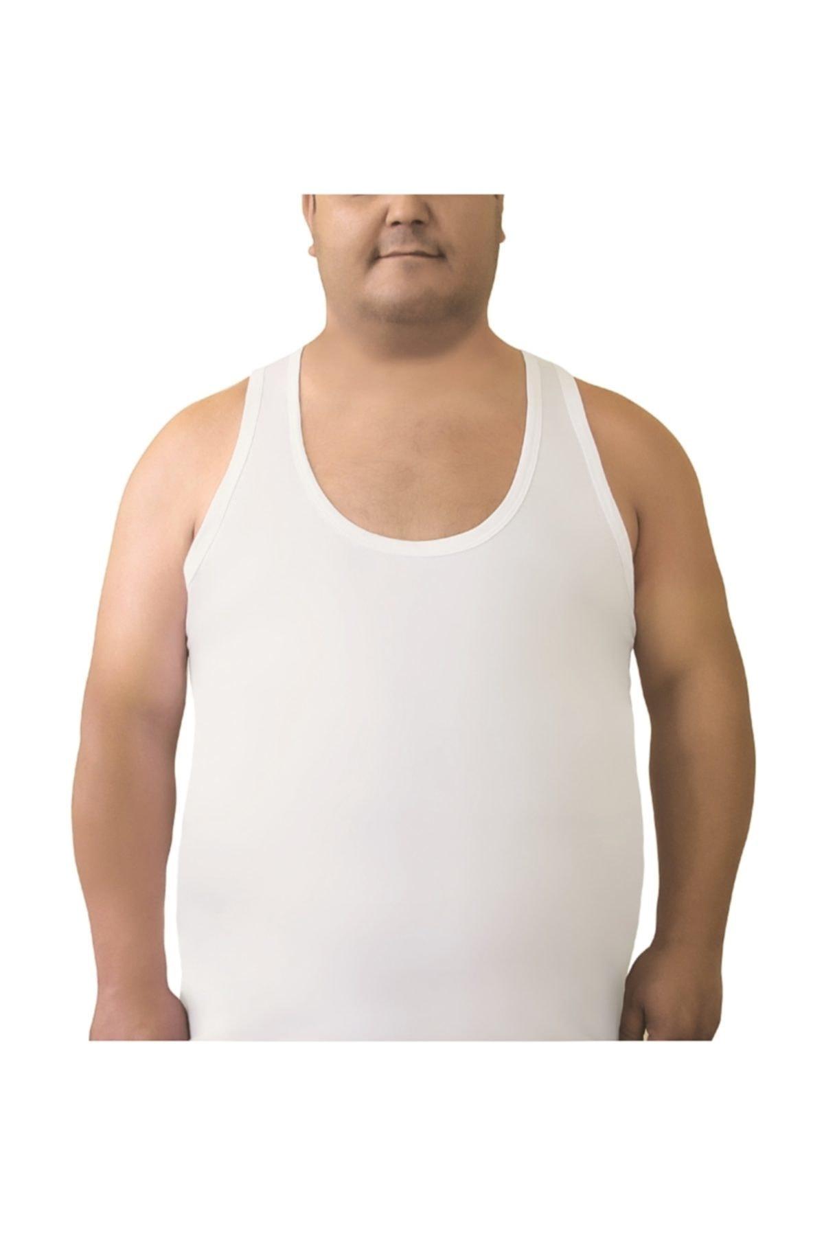 Öztaş Underwear Klasik Erkek 3'lü Beyaz Battal Pamuklu Atlet 1