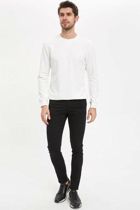 DeFacto Erkek Siyah Skinniy Fit Chino Pantolon
