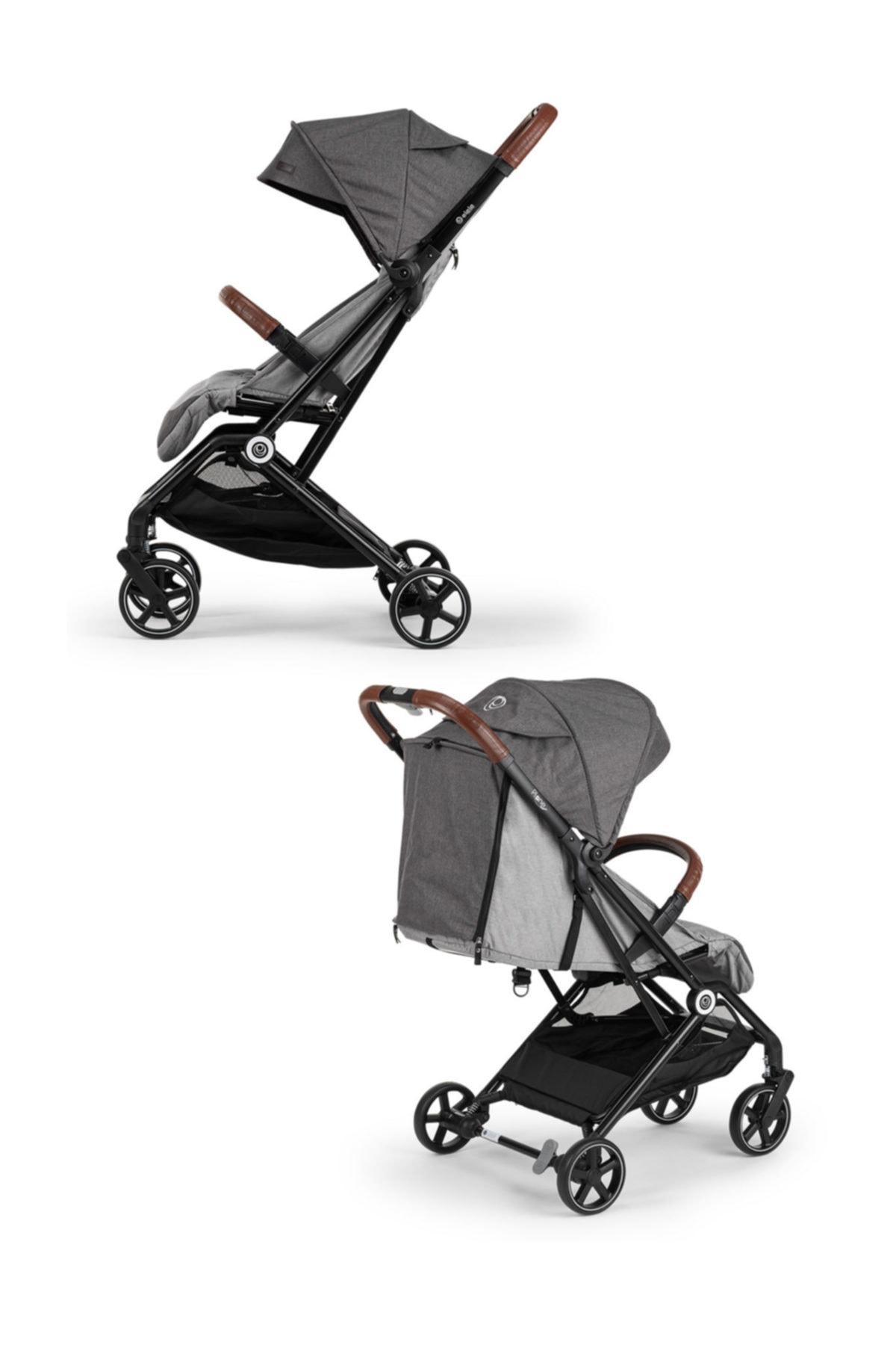 Elele Plane Kabin Tipi Bebek Arabası Siyah-gri 2