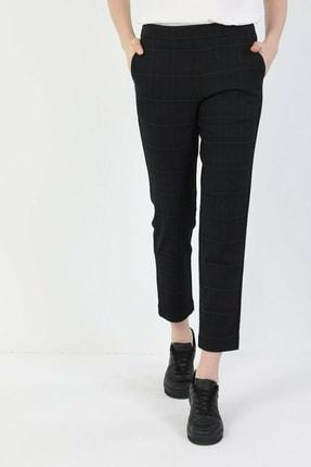 Colin's Beli Lastikli Çizgili Dar Kesim Lacivert Kadın Pantolon CL1047246