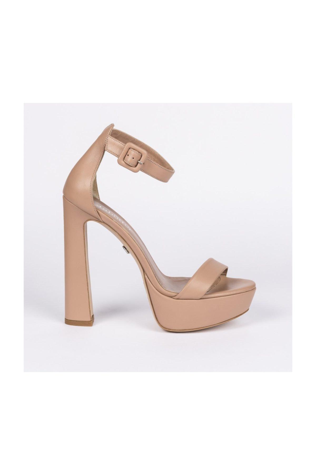 Jabotter Desire Karamel Deri Platform Topuklu Ayakkabı 1