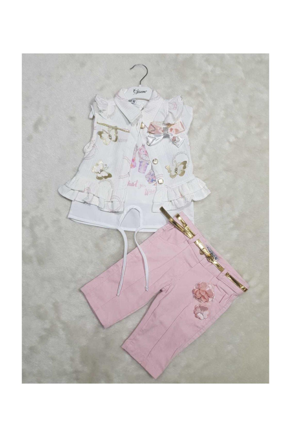 BÜŞRA Bebe Kız Takım Elbise Bayram 1