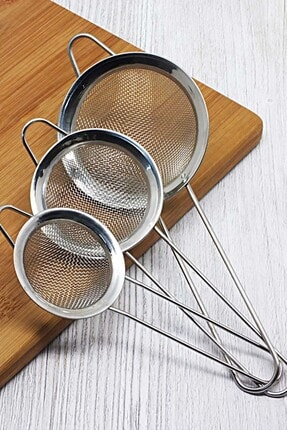 Mutfak Zamanı Paslanmaz Çelik 3 Boy Çay Süzgeçi