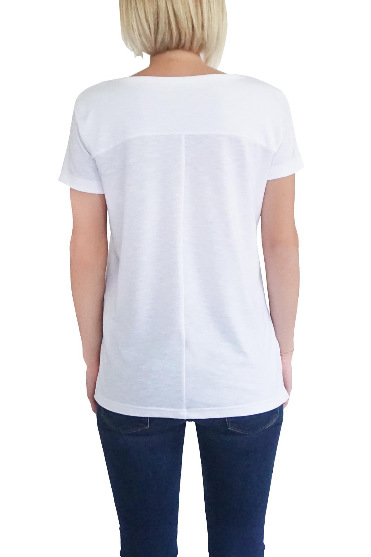 MOF Kadın Beyaz T-Shirt GSYT-B 2