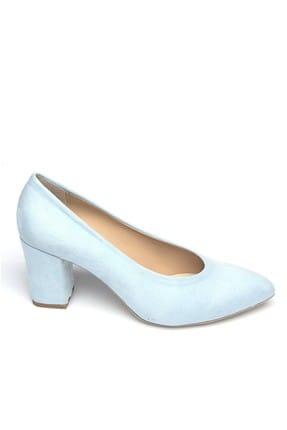 Shoes Time Mavi Kadın Topuklu Ayakkabı 19Y 2200