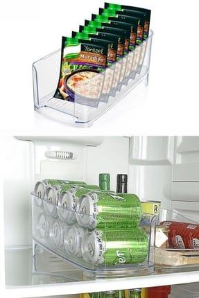 Helen's Home Buzdolabı İçi Kutu İçecek ve Hazır Çorba Düzenleyici