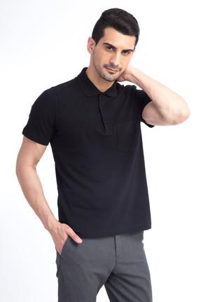 Kiğılı Erkek Siyah Polo Yaka T-Shirt - 44146