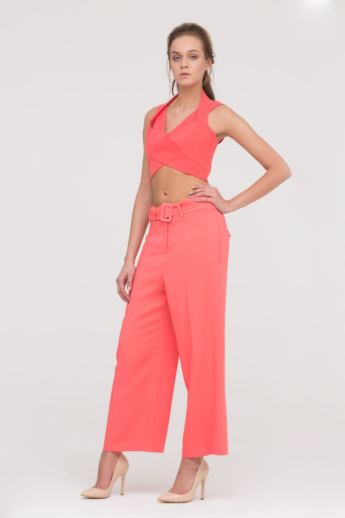 GİZİA Kadın Papaya Rengi Bol Kesim Pantolon M17Y1Y01711TV 2
