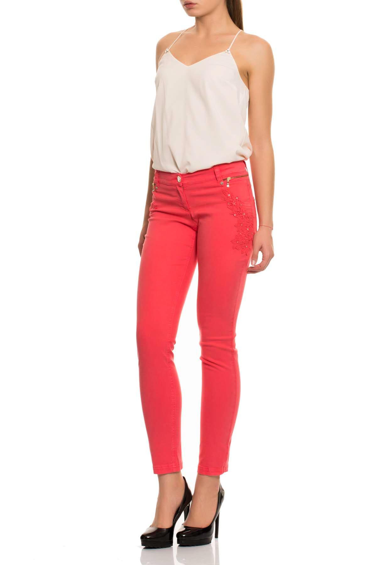 GIZIA CASUAL Kadın Mercan Rengi Skinny Kot Pantolon M15YAS0211C7K 2