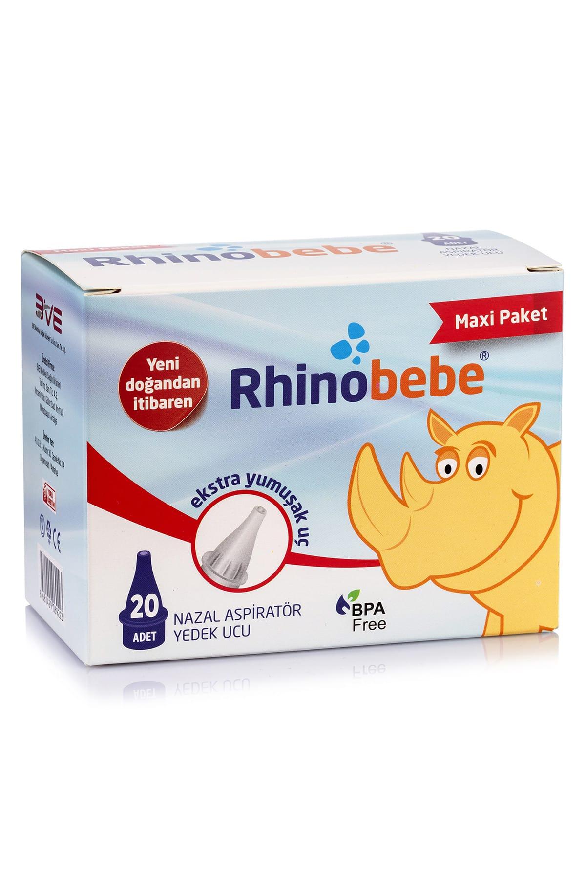 Rhinobebe Bebek Burun Aspiratörü Yedek Uç Maxi 1 Paket 1