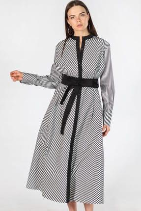 Herry Kadın Siyah Çizgili Elbise 10505