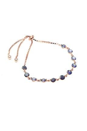 Söğütlü Silver Kadın Gümüş Mavi Mistik Topaz Taşlı Bileklik SGTL8521