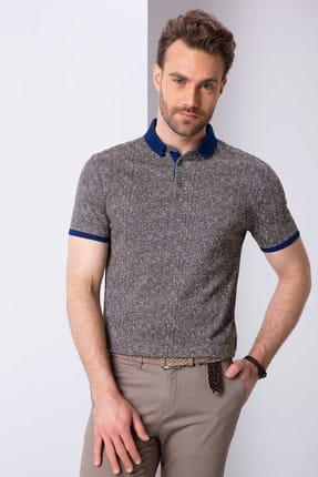 Pierre Cardin Erkek Haki Slim Fit T-Shirt