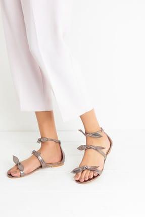 Derimod Antrasit Kadın Sandalet