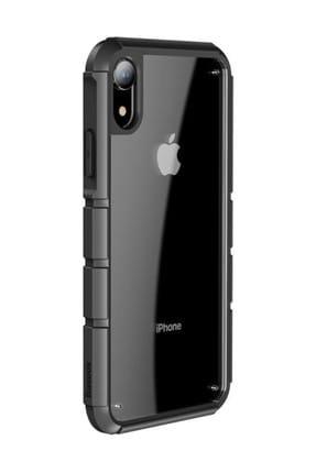 Baseus Panzer Serisi Apple iPhone XR 6.1 Darbeye Dayanıklı Tam Koruma Kılıf Siyah