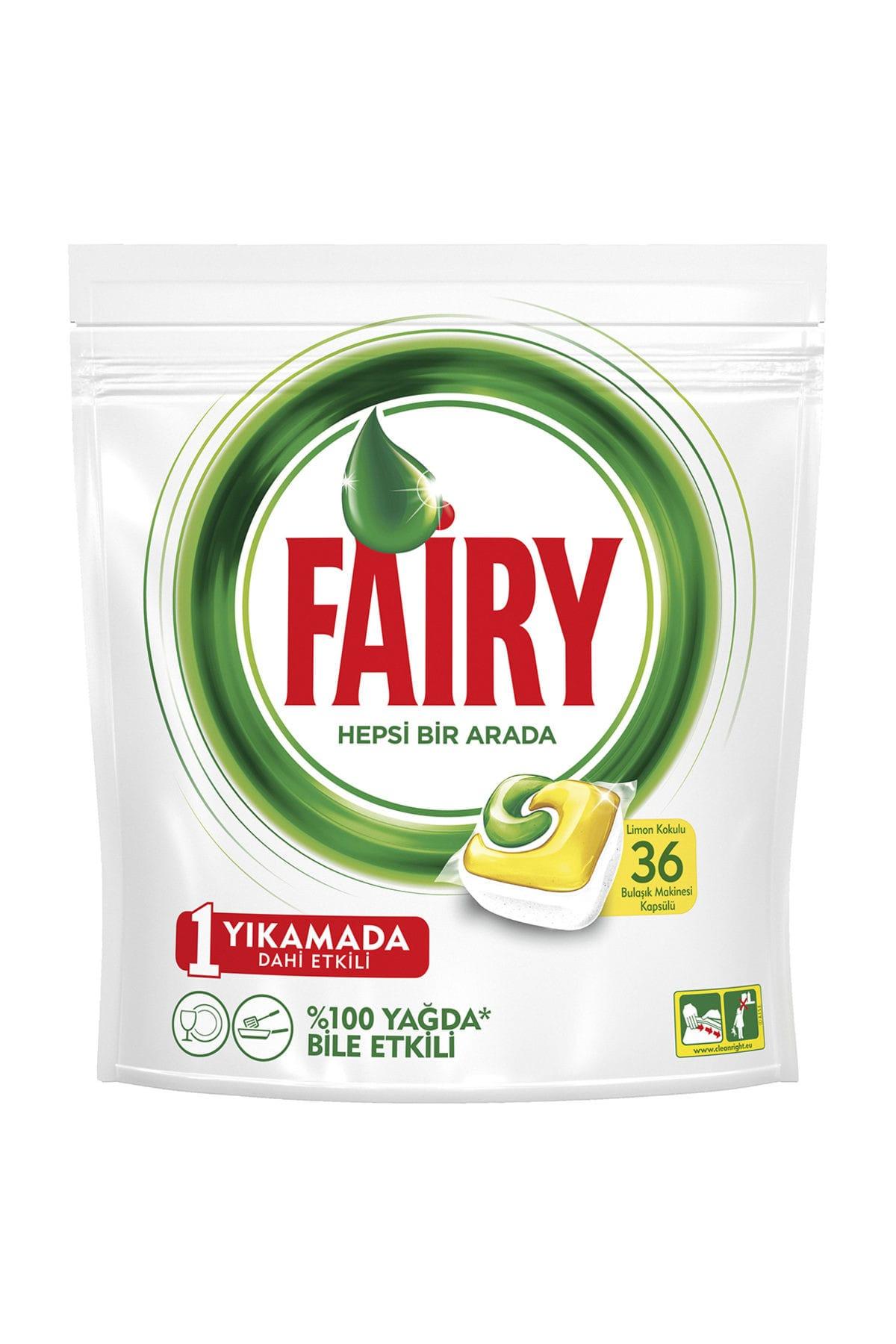 Fairy Bulaşık Makinesi Deterjanı Hepsi Bir Arada Limon 36 Yıkama 1