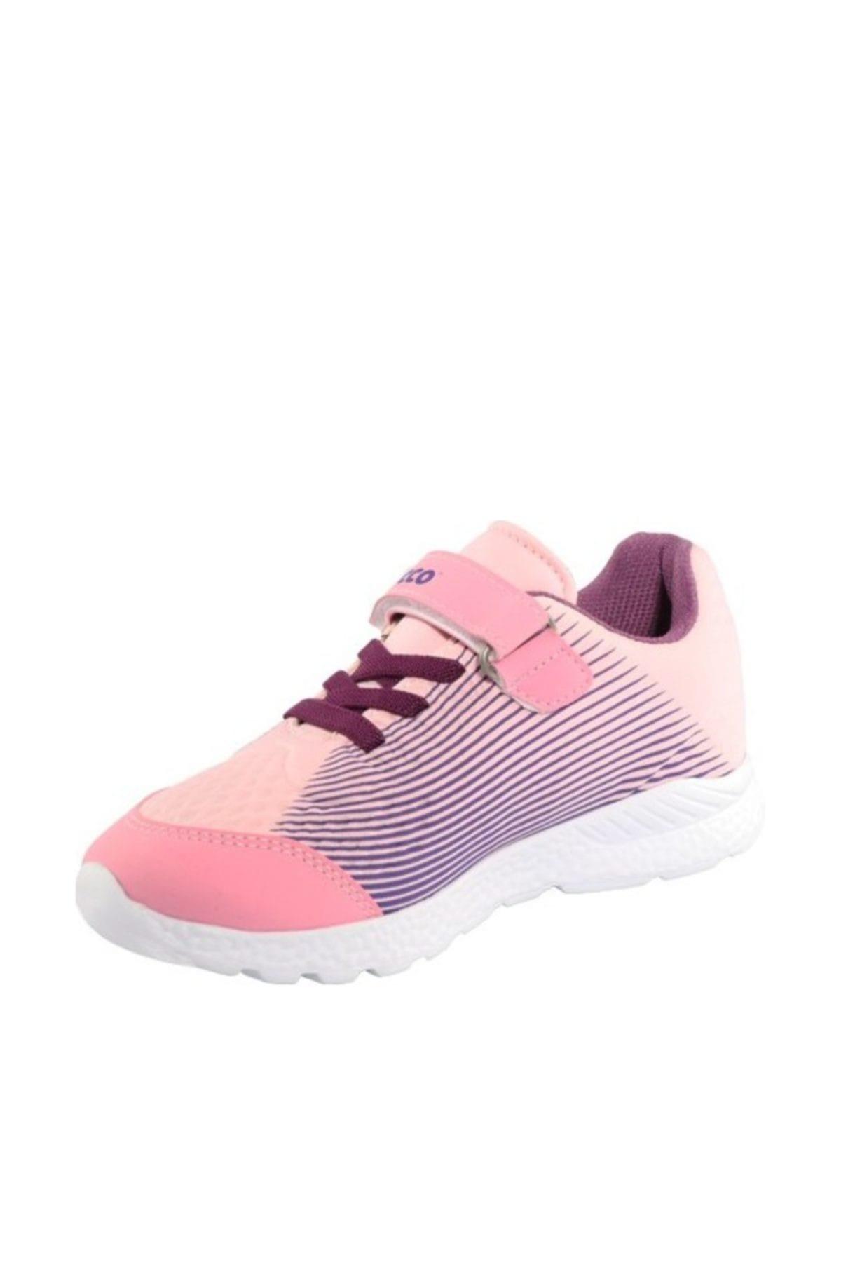 Vicco Pembe Mor Bağcıklı Spor Ayakkabı 2