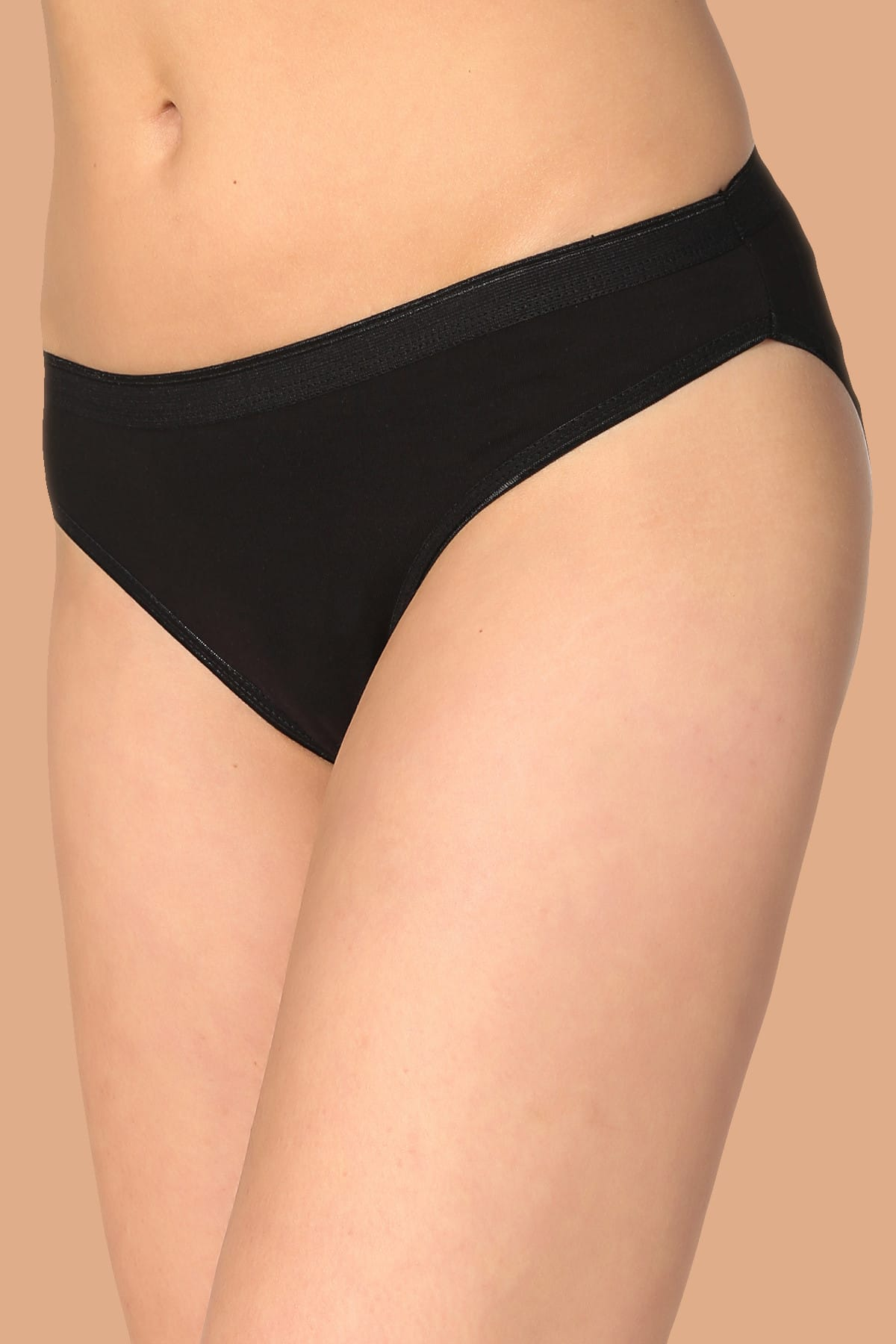 Tutku Kadın Siyah 6'Lı Paket Pamuklu Su Yolu Bikini Külot 1