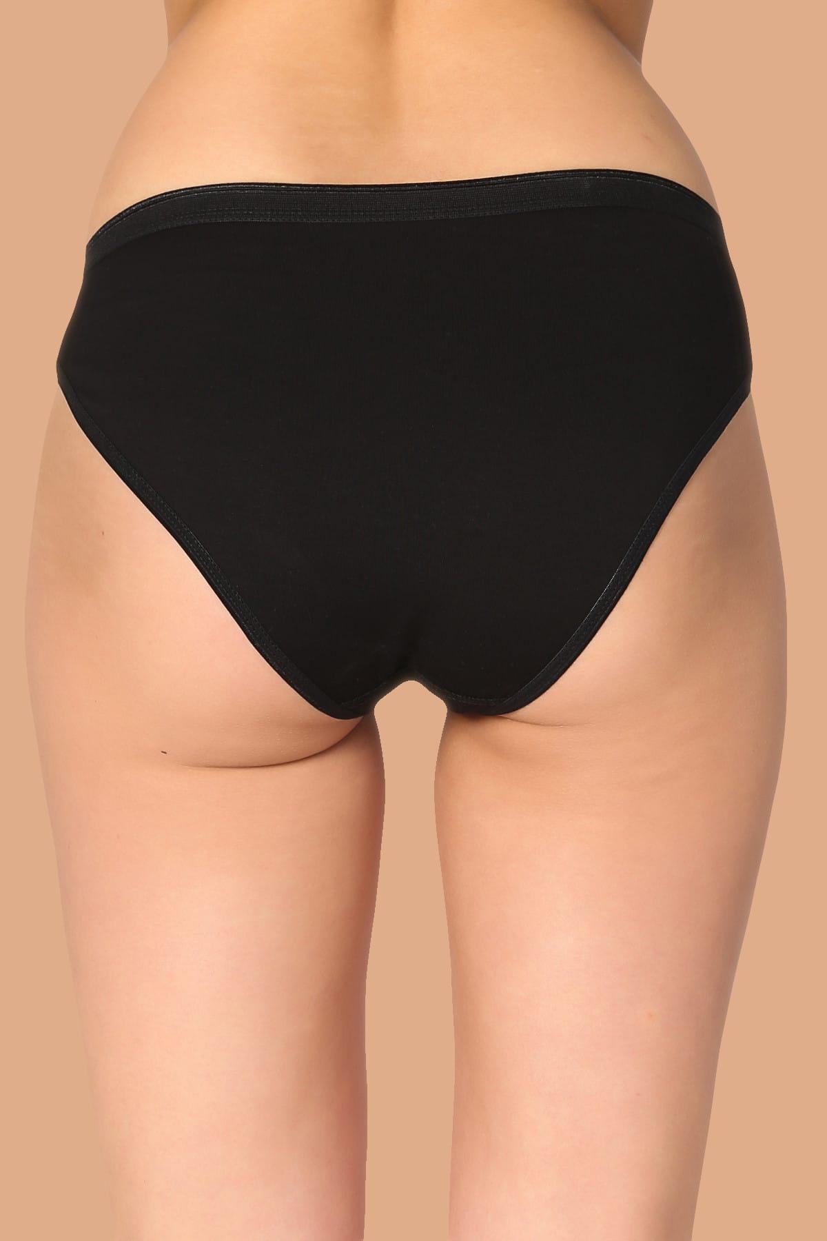 Tutku Kadın Siyah 6'Lı Paket Pamuklu Su Yolu Bikini Külot 2