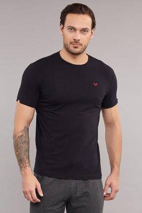 bilcee Siyah Pamuklu Erkek  T-Shirt ES-2374